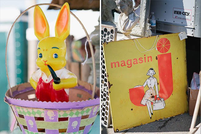 Yellow Bunny Rabbit with Pipe / J Magasin enamel sign