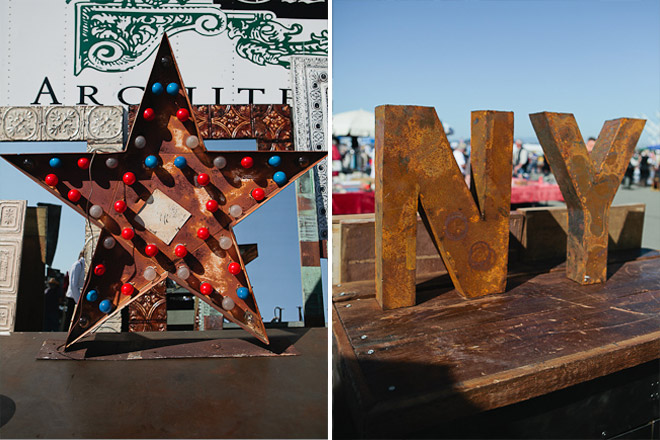 Light up star / NY metal letters