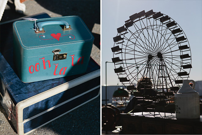 Ooh la la blue luggage / ferris wheel model